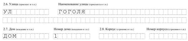 как правильно заполнить форму р11001 адрес