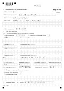 Форма Р11001 физлицо и юрлицо Лист Н стр.2 для юрлица